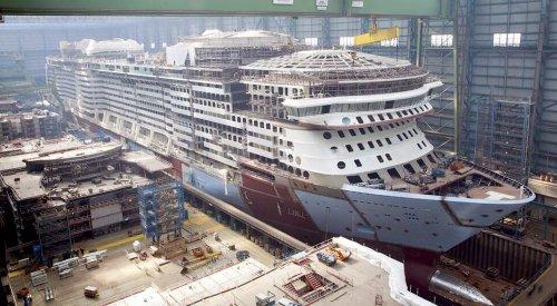 Строительство нового лайнера Spectrum of the Seas[видео]