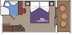Каюта с балконом Aurea категории B3