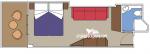 Каюта с балконом Fantastica категории B2