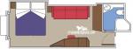 Внешняя каюта с окном Fantastica категории O2